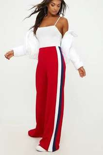 Pretty little thing red track pants