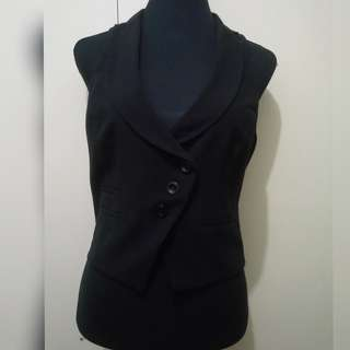 WA727 BCX Black Vest / Sleveless Top Blouse