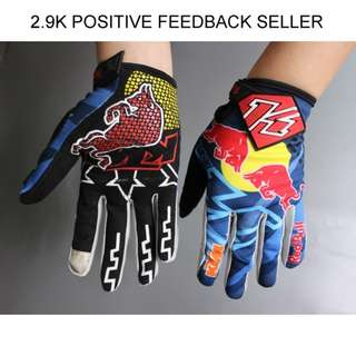 KTM Red Bull Motorbike Scooter Bicycle Professional Gloves M L XL
