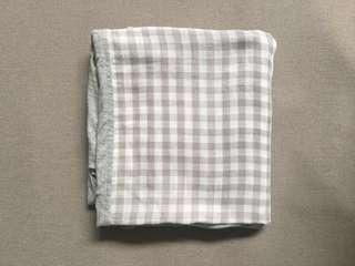 Light Grey Checkered Scarf
