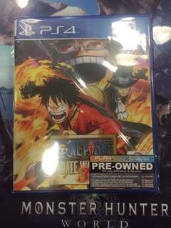 PS4 One piece Pirate Warriors 3 (Used)