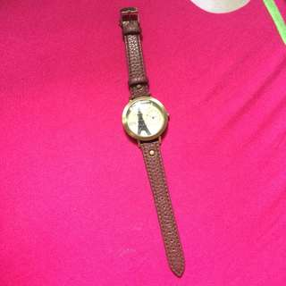 Sophie Martin Pacha Brown Leather Watch