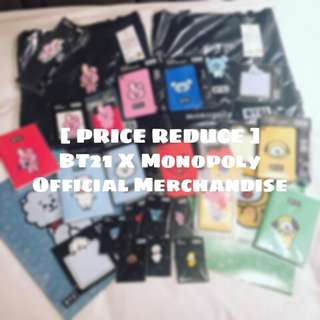 [ READY STOCK ] BT21 X Monopoly Merchandise