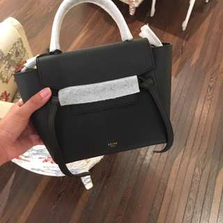 Celine nano belt black