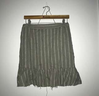 Khaki Glassons Skirt