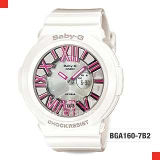 FREE DELIVERY *CASIO GENUINE* [BGA160-7B2] 100% Authentic with 1 Year Warranty! BGA-1607B2 BGA-160-7B2 BGA1607B2