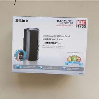 Dlink Wireless AC1750 Dual Band Gigabit Cloud Router With AC Smart Beam