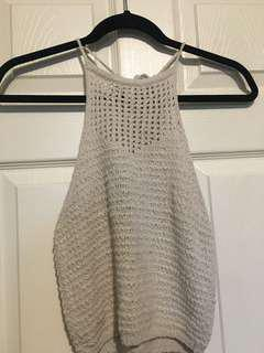 Knit cropped tank top