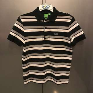 Hugo Boss Monochrome Stripes Polo