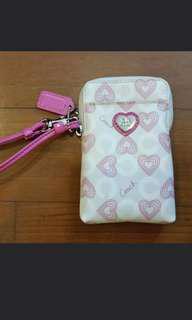 COACH Waverly Hearts Phone Wristlet