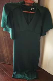 Pre loved Green Cape Dress