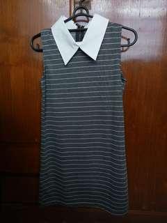 Collar Stripe dress