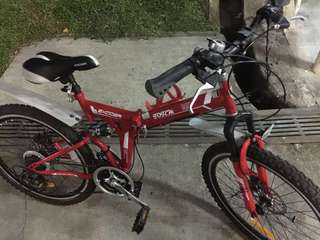 Korean Foldable Bicycle with SHIMANO GEAR AND SHIFTER