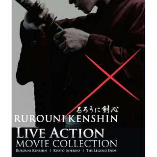Rurouni Kenshin Kyoto Inferno The Legend Ends Live Action 3 Movie Collection DVD