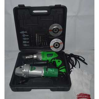 Impact Drill and Angle Grinder