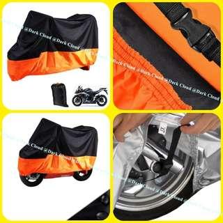 [DARK CLOUD - 190 BIKE COVER] MOTORCYCLE/MOTOR RAIN COVER ✔️ELASTIC FABRIC ▶️BELT LOCK ✔️CARRY BAG ▶️WATERPROOF ✔️UV ▶️ANTI-DUST ✔️ANTI-SCRATCH ▶️HIGH QUALITY