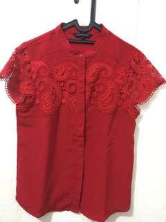 Blus Wanita Lengan Pendek (Red)
