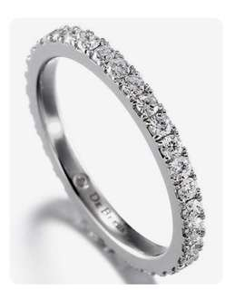 鑽石18K白金戒指