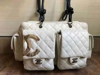 Chanel cambon quilted reporter bag