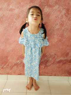Girls Ligh Blue Dress