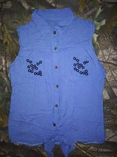 Denim design blouse