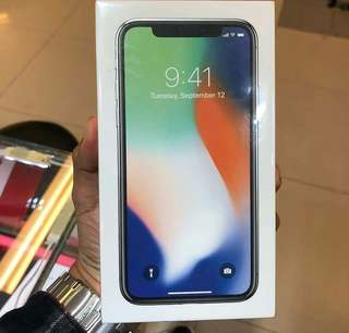 Iphone x 256gb new garansi inter 1 thn