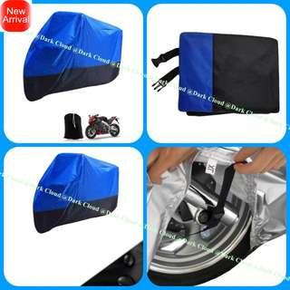 [DARK CLOUD - 190 BIKE COVER] MOTORCYCLE/MOTOR RAIN COVER ✔️ELASTIC FABRIC ▶️BELT LOCK ✔️CARRY BAG ▶️WATERPROOF ✔️UV ▶️ANTI-DUST ✔️ANTI-SCRATCH ▶️HIGH QUALITY