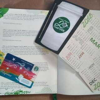 Starbucks Special Edition Card + Desk Calendar + Discount Coupons