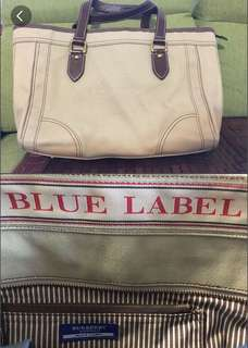 Blue label帆布料手袋