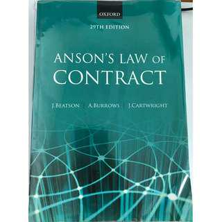 Anson's Law of Contract (29th Edition)