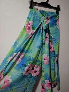 Floral Slit Pants