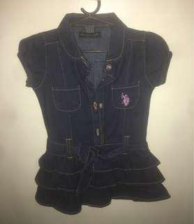 US Polo Assn. Denim baby dress
