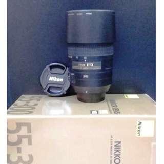 Nikon Nikkor lens 55-300mm f/4.5-5.6 VR complete with box