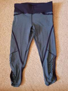 Lululemon tights. Blue strips. In good condition
