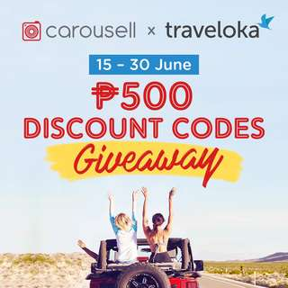 Carousell x Traveloka P500 Discount Codes Giveaway (Hotel and Flight Bookings)