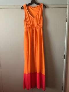 F21 orange maxi dress