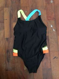 Neon Strap One-piece Swimsuit