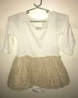 Off white Tutu dress (onesie type)