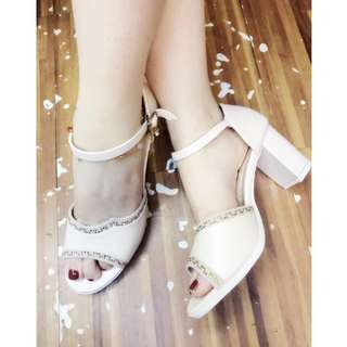 High heels (cream 36 & 38/ skyblue 36 & 37) 3 inches