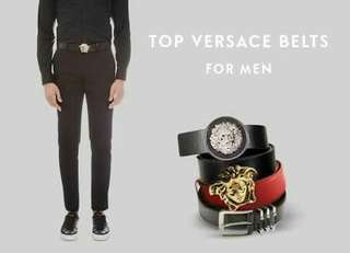 VERSACE Belt Fathers Day Gift BF Gift Men Belt