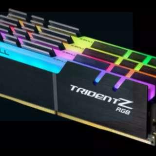 G.SKILL DDR4 Trident Z RGB 3200Mhz 4x8GB [F4-3200C16Q-32GTZR] for sale