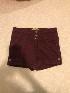 Cotton on purple short