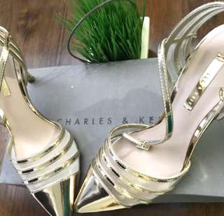 Charles and keith gold heels