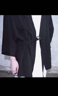 🚚 [DEALBREAKER]純棉金屬扣環寬鬆和服外套