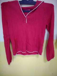 Crop Sweater Merah The Colorbox
