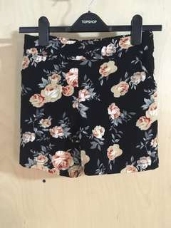 Rose Printed Shorts