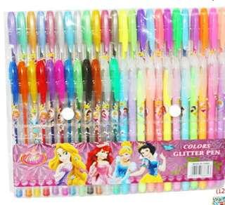 48支閃光,螢光,水粉,金屬筆