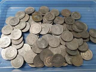 100X Singapore 50 Cents Lion Fish Coin ( Lot of 100 Pieces )