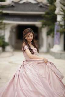 DEBUT GOWN BLUSHINNG PINK LACED