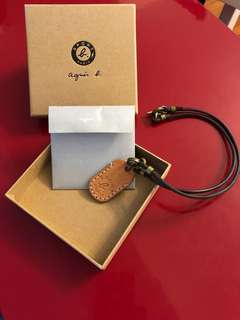 Agnes b sport leather necklace